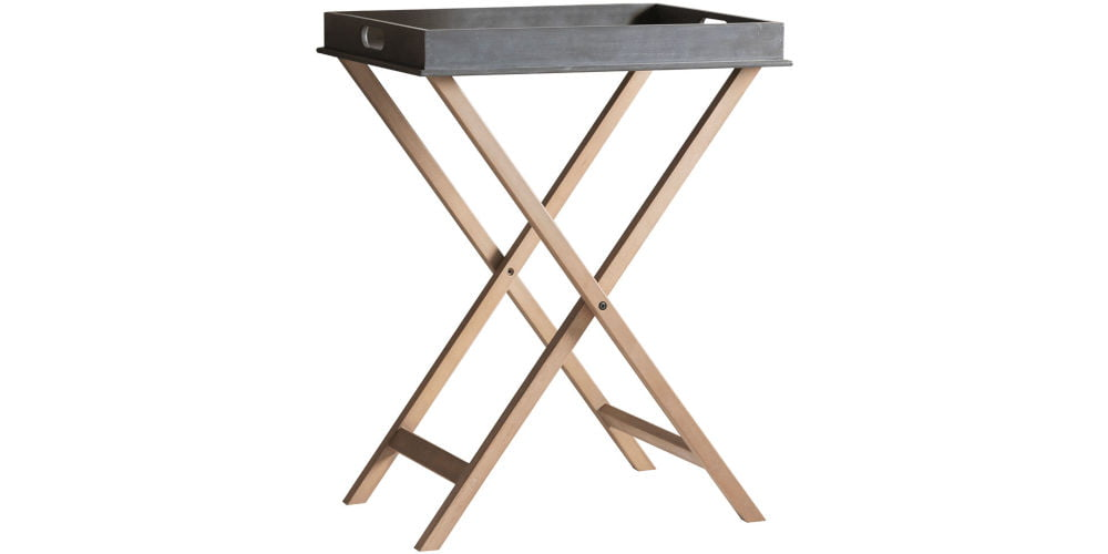 Cox Cox Grey Topped Tray Table