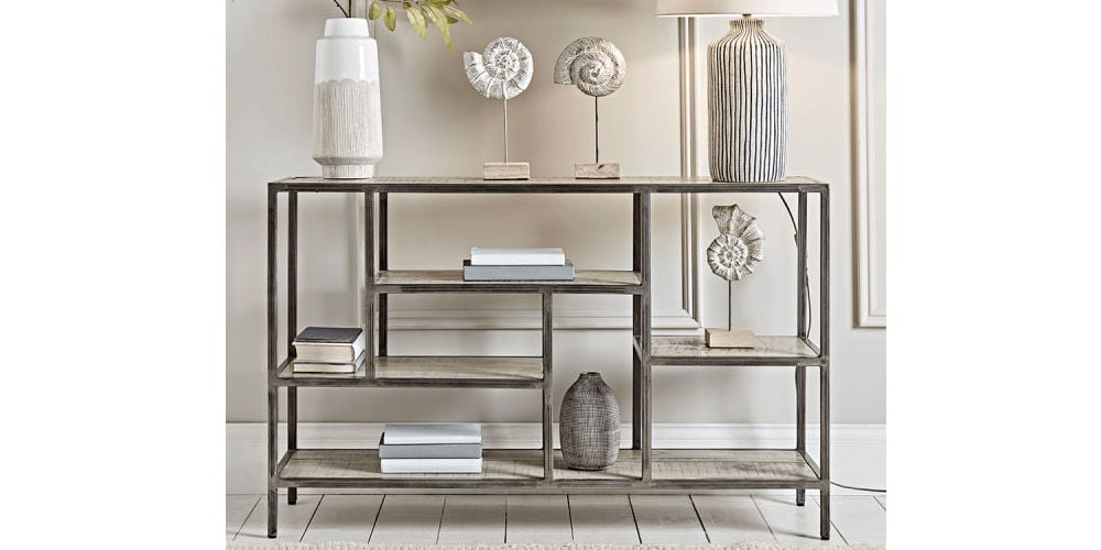 Cox & Cox Industrial Display Console Table