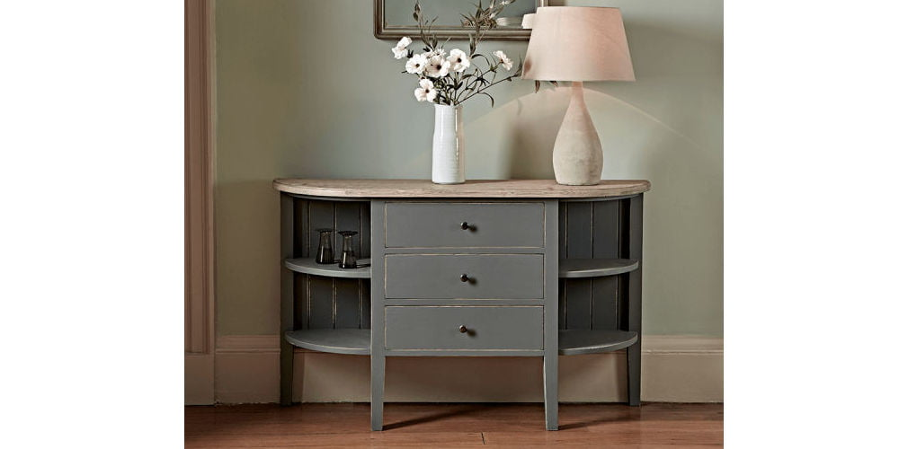 Cox & Cox Rounded Storage Console Table