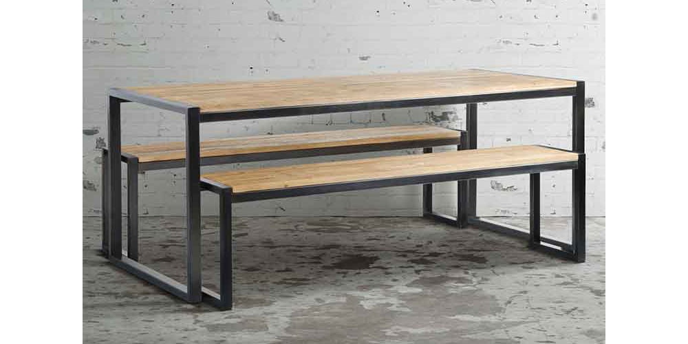 MY-Furniture Chenier Industrial Dining Table