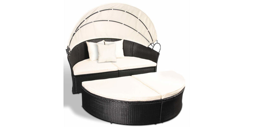 Miadomodo Day Bed with Adjustable Canopy Roof