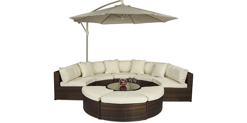 Monaco Large Rattan Sofa Set