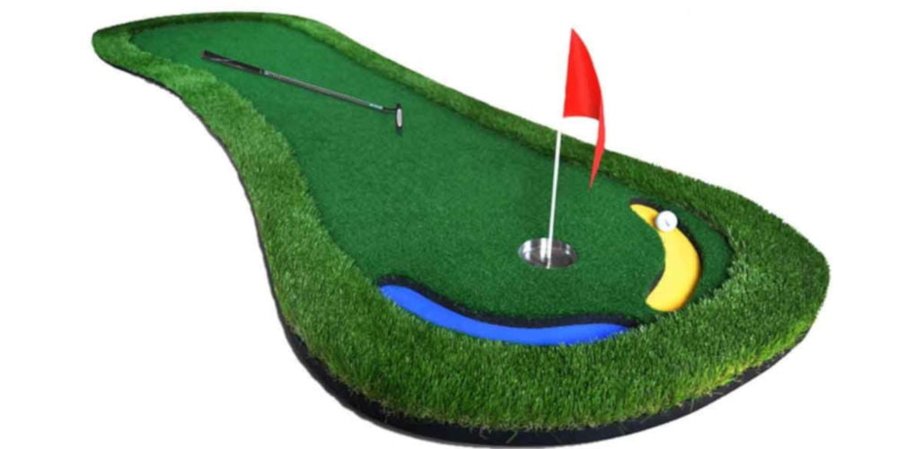 PGM 9.85ft Putting Mat with Whole Golf Hole Cup and Flagstick