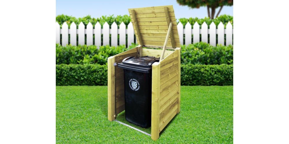 Rutland County Garden Furniture Morcott Single Wheelie Bin Storage Unit