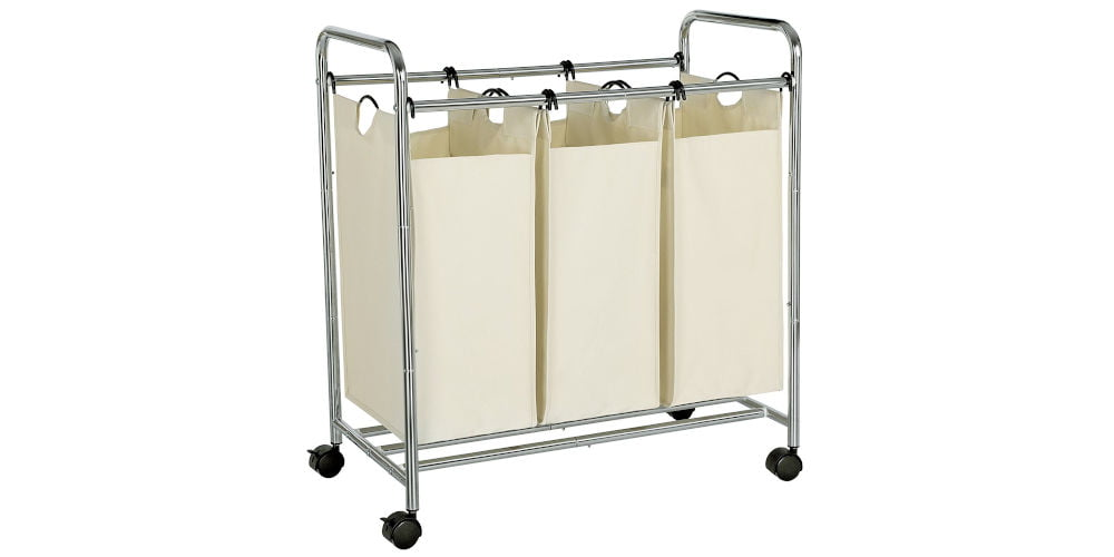 SONGMICS 3 sections Laundry Trolley