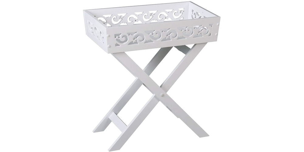 TINGTING French Country Folding Butler Table