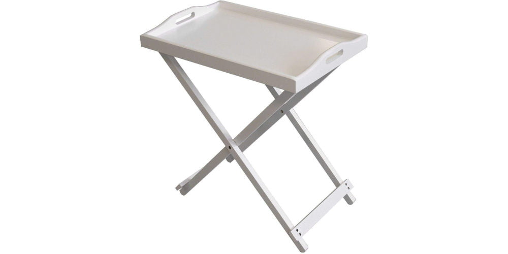 Taylor Brown White Butler Tray