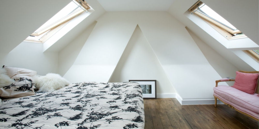 attic bedroom paint