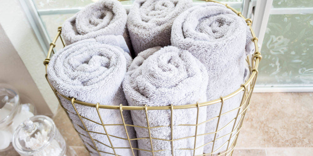 roll towels for more bathroom storage
