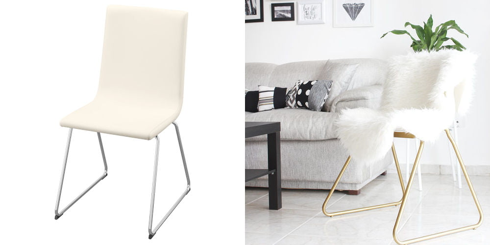 ikea hacks gold chair The Key Item