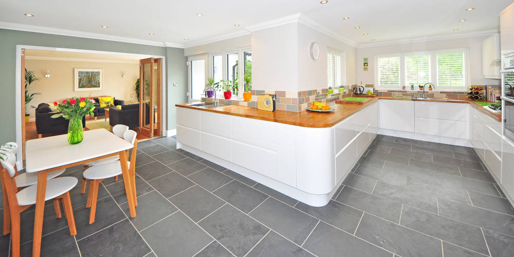 kitchen tiles wall and floor
