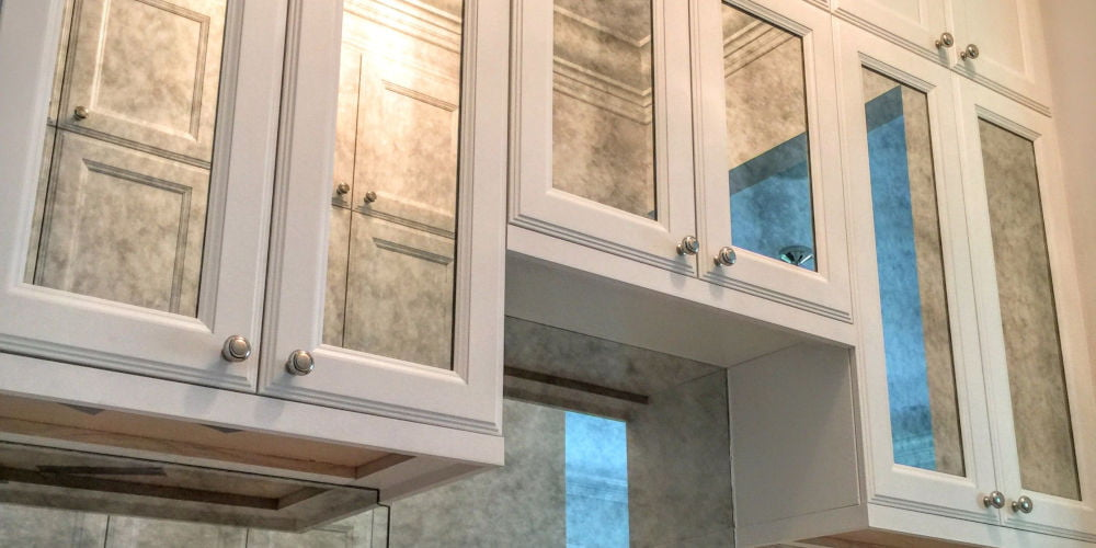 mirror kitchen cabinet