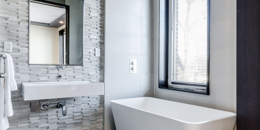 mixing bathroom tile designs