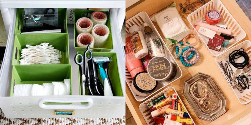 pound shop bathroom storage hacks